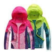 【服装】春夏季速干皮肤风衣 男女户外防紫外线拼色透气超薄登山服