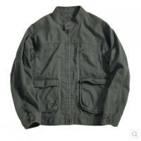 【服装】几立原创男士秋季立领贴袋夹克双色做旧文艺外套复古男款夹克衫