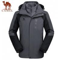 【服装】骆驼户外冲锋衣男款三合一两件套加厚防水可拆卸冲锋衣