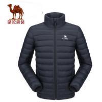 【服装】骆驼轻薄羽绒服男款2017秋季新款修身短款