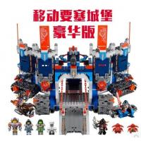 【玩具】正品博乐未来骑士团移动要塞城堡兼容乐高70317拼装积木玩具10490