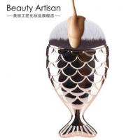 【美妆】鱼尾粉底刷美人鱼化妆刷美人刷美妆工具扁头便携 带盖