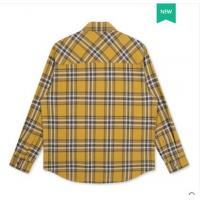 【衬衫】GXG男装2019年冬季新款商场同款黄格子港风复古长袖衬衫上衣男