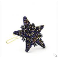 【头饰】法国明星同款Alexandre De Paris亚历山大钻石之星边夹刘海夹发饰