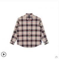 【衬衫】GXG男装2019年冬季新款格纹港风复古长袖衬衫外套男潮流格子衬衣