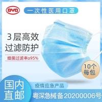 【KA-CN】比亚迪一次性医用口罩100个