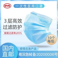【KA-CN】比亚迪一次性医用口罩200个