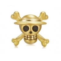 周生生航海王手链骷髅头款海贼王海贼旗转运珠