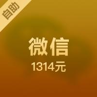 【自助服务】微信游戏/微店代购 1314元wechat top up