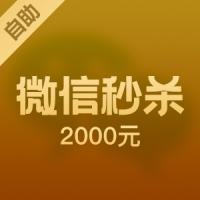 【自助服务】微信2000元 0点、秒杀