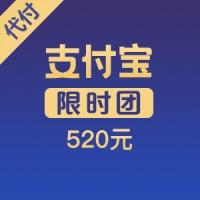 【限时团】支付宝代付 520元