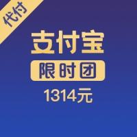 【限时团】支付宝代付 1314元